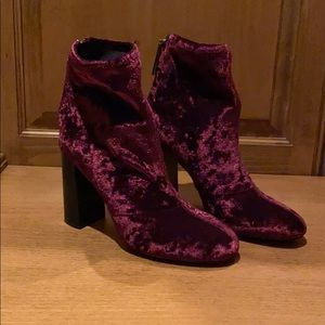 French Connection velvet holiday boot